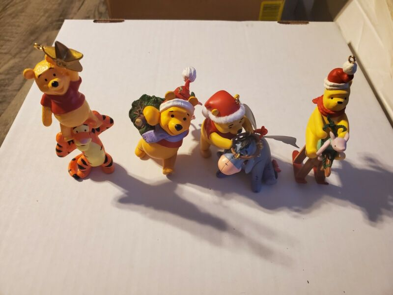 Hallmark Keepsake Winnie the Pooh Christmas Ornament Lot of 4