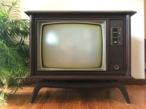 Vintage ZENITH Console COLOR Television TV 60s MCM Space Command 600 MID-CENTURY