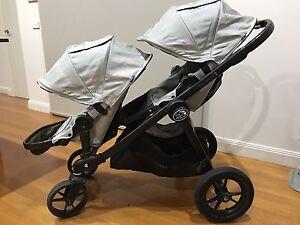 Baby Jogger City Select double pram + glider board St Kilda Port Phillip Preview