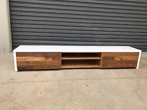 Aus made polyurethane Entertainment Tv Unit Recycled Hardwood Drawer Minto Campbelltown Area Preview