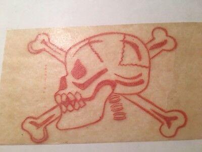 Vintage 1950s Skull And Crossbones Halloween Transfer Iron On New Old Stock