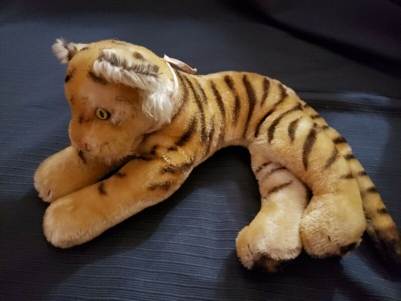 "Vintage Steiff Medium ""Tiger"" 14"" stuffed animal, VGC"