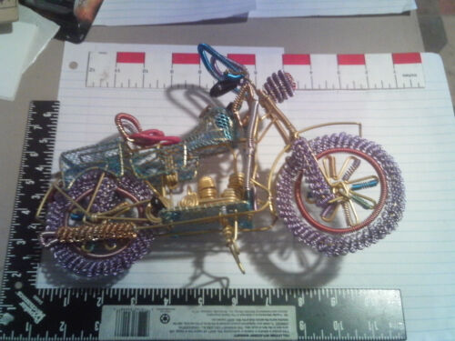 """Wire Motorcycle 12"""" colorful"""