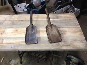 Two vintage ash scoops