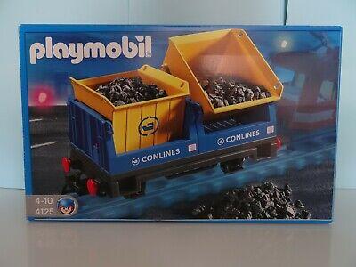 Playmobil Vagón volquete de mercancias del tren eléctrico Ref 4125 nuevo