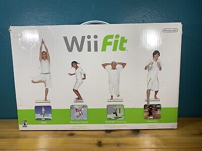 Nintendo Wii Fit and Wii Fit CD With Balance Board Game Yoga Aerobics Strength