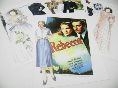 PAPER DOLLS 2006 REBECCA  by SANDRA VANDERPOOL OLD HOLLYWOOD MOVIE RARE SET!!!