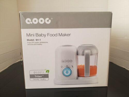 QOOC 4-in-1 Mini Baby Food Maker - Model Q1-1 New (Open Box)