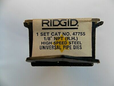 Ridgid 47755 18 Npt Threading Dies Hs Rh For Universal Heads - New Sealed