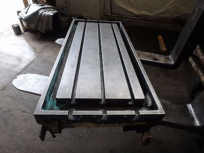 43.25 X 19.50 X 5 Steel Welding T-slotted Table Cast Iron Layout Plate Jig