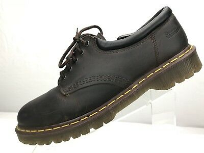 Dr Martens Casual Oxfords Leather 5 Eye Padded Collar Brown 8053 Mens Size 14 US - Mens 5 Eye Padded Collar