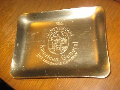 50Th Anniversary American General Life Insurance Company Aluminum Token Dish