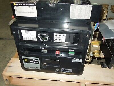 Square D Sef362500ls 2500a 3p 600v Electronic Trip Lsi Mofm Used W Test Report