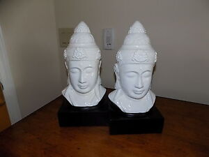 Two Chinese busts
