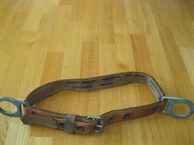 Vintage Klein Tools Pole Climbing Belt -size Medium- Model 5442-date 3-78