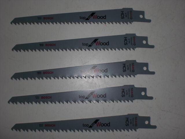 Bosch 5 x Reciprocating sawblade S 644 D New 2608650551