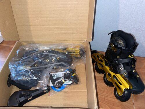 Liku Unisex Fitness Inline Skates Black & Gold