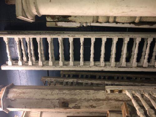 "20'+ vintage Victorian age porch balustrade railing spindles 21"" h x 4"" w 16.5"""