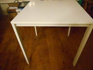 Table - white melamine (Melltorp Ikea) Normanhurst Hornsby Area Preview