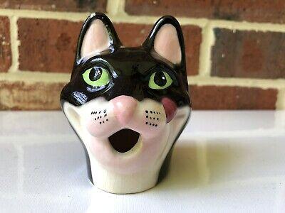 Vintage Cat Head Pie Vent Ceramic Kitty Rare Steam Release  Pie Vent