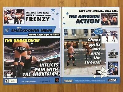 WWF Smackdown! Just Bring It PS2 Vintage Print Ad/Poster Official THE ROCK WWE