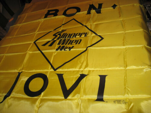 """BON - JOVI A LICENSED TAPESTRY ORIGINAL AND VERY RARE 44"""" X 45"""" FROM THE 1980s"""