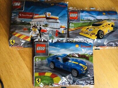 Lego Shell Ferrari Car And Station Collection 40192 40193 40195