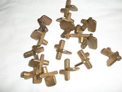 16 Vintage Shelf Clips Adjustable Pins
