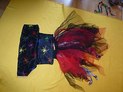 Kinder Kostüm Hexe Tüllrock  Höhe 76cm einfach34cm Oberteil  Unterbrustweite  ei