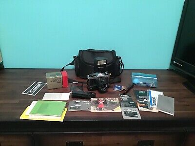 Canon AE-1 Program Camera With Lenses, Owners Manual, Flash, & More