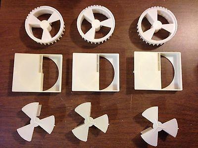 3 Vendstar 3000 Portion Wheel Sets Wheel With Brush Housing 3 Piece X 3