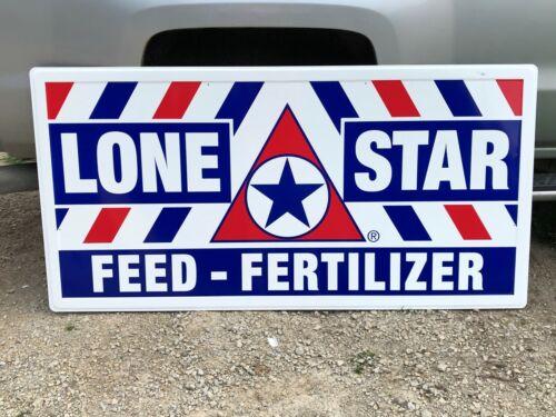 WOW! Large ORIGINAL Vintage LONE STAR FEED FERTILIZER Sign Farm Ag Ranch NICE!