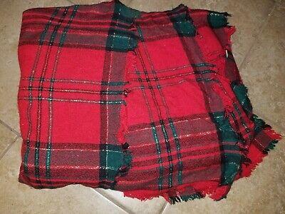 "Plaid Checker Christmas Holiday Throw Blanket Soft Fleece for Sofa Couch 67""x58"""