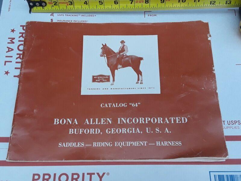 RARE ANTIQUE Bona Allen Inc. Buford, Georgia Saddle Catalog #64 Horse Equipment