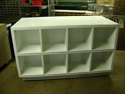 White Cube Shelf Display Self Standing Set Of 2