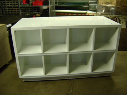 WHITE CUBE SHELF DISPLAY SELF STANDING SET OF 2