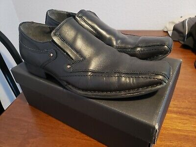 ALFANI Mens 11.5 Black Leather Italy Dress Shoes Deal!!!