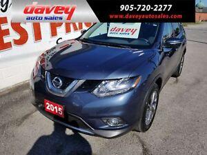 2015 Nissan Rogue SL ALL WHEEL DRIVE, NAVIGATION, LEATHER, SU...