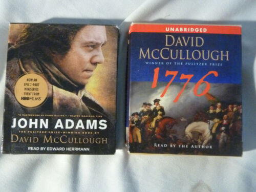 TWO (2) DAVID MCCULLOUGH audio books: John Adams; 1776