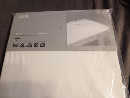 Ikea Len KIDS Fitted Sheet, white, for small, junior beds, N