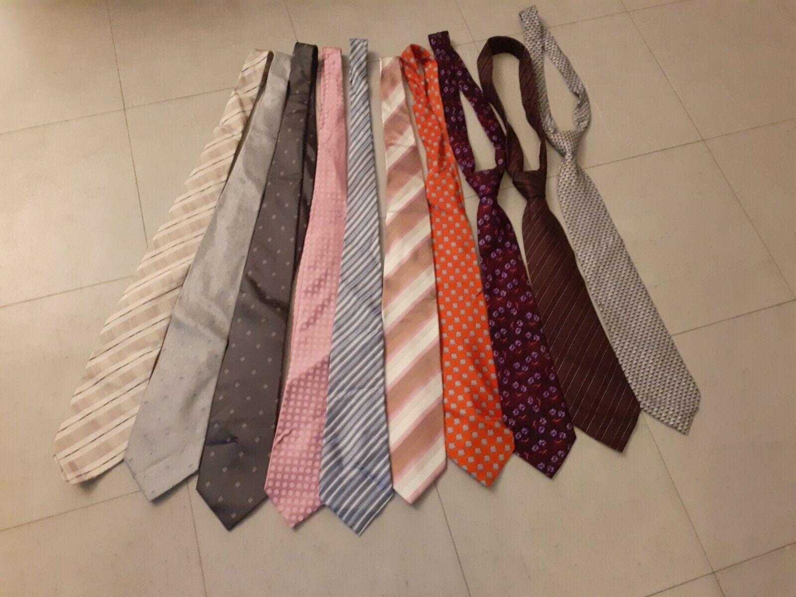Lot de 10 cravates en 100% soie.