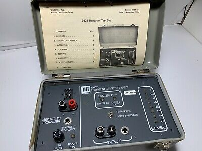 Wescom 9131 Repeater Test Set W Manual