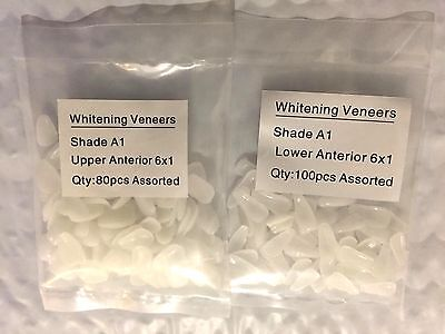 Dental Ultra-thin Veneers Resin Teeth Upper Lower Anterior Shade A1 10080 Pcs