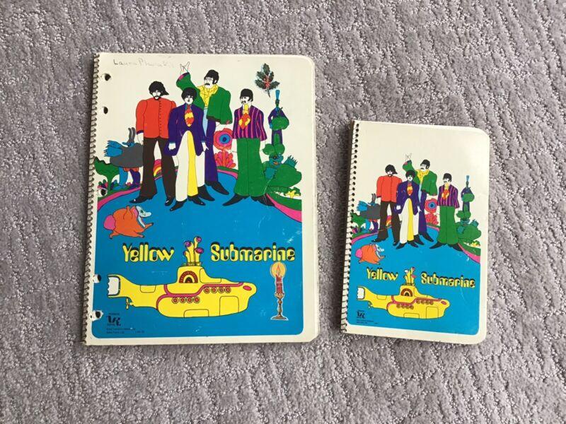 THE BEATLES YELLOW SUBMARINE SPIRAL NOTEBOOKS