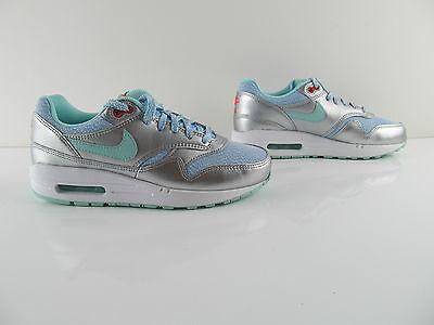 Air Max 1 Silver Green Blue 90 1 87 Sneaker Schuhe Eur 36.5 38