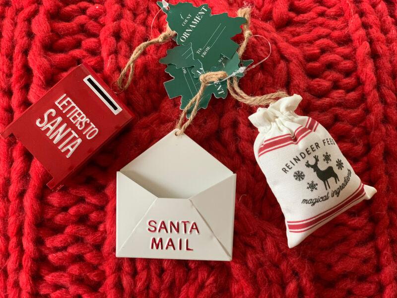 Target christmas Bullseye 2021 Letters To Santa mailbox raindeer feed ornament