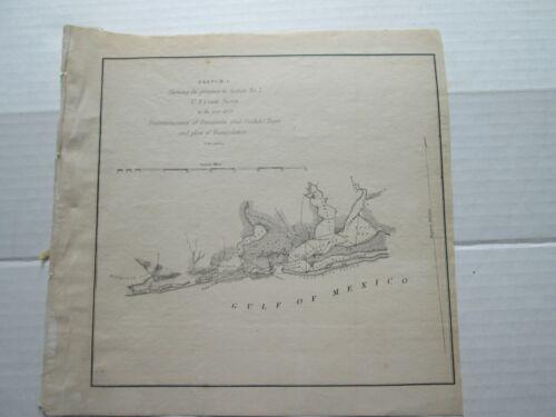 ONE (1) 1849 COAST SURVEY TRIAGULATIONS SKETCH G-NO.7,  FLORIDA, ALABAMA