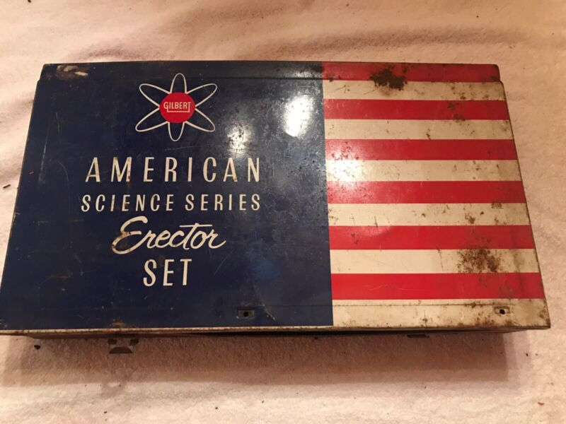 Gilbert American Science Series Erector Set in Original Metal Case