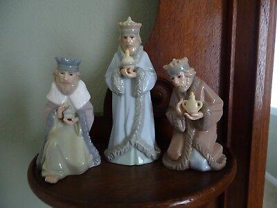 Miniature Nativity Porcelain The Three Wise Men Hallmark