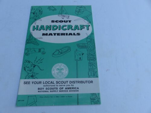 1964 Boy Scouts of America Scout Handicraft Materials Folded Brochure & Cub Page